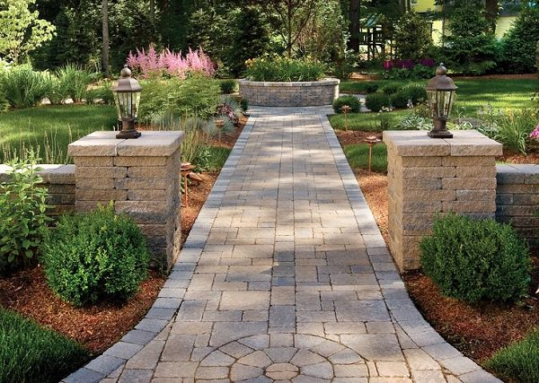 garden path ideas another cool diy garden path idea is to make use of pavers. IDANDBT