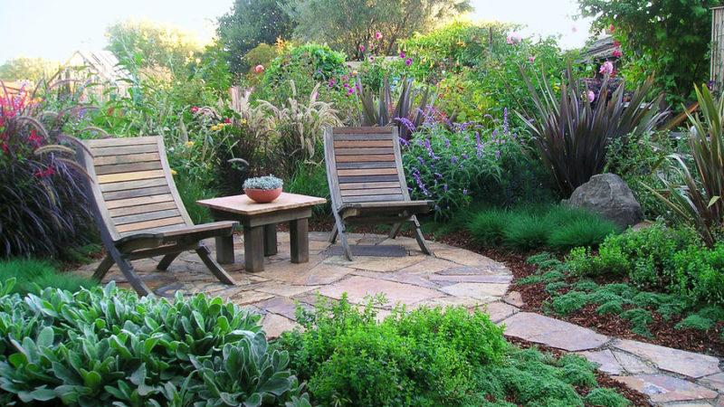 garden patio ideas lush slate patio FUJTNDJ