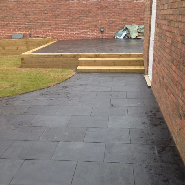 garden paving slabs black slate paving✓patio slabs garden✓5m2