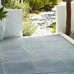 garden paving slabs dark grey textured single paving slab (l)600mm (w)600mm ATWANFY