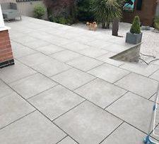 garden paving slabs image is loading dakota-grey-vitrified-porcelain-paving-garden-patio-slabs- IIGTPYO