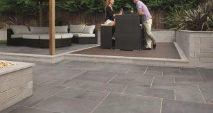 garden paving slabs marshalls fairstone slate casarta garden paving | turnbull EQDVHQD