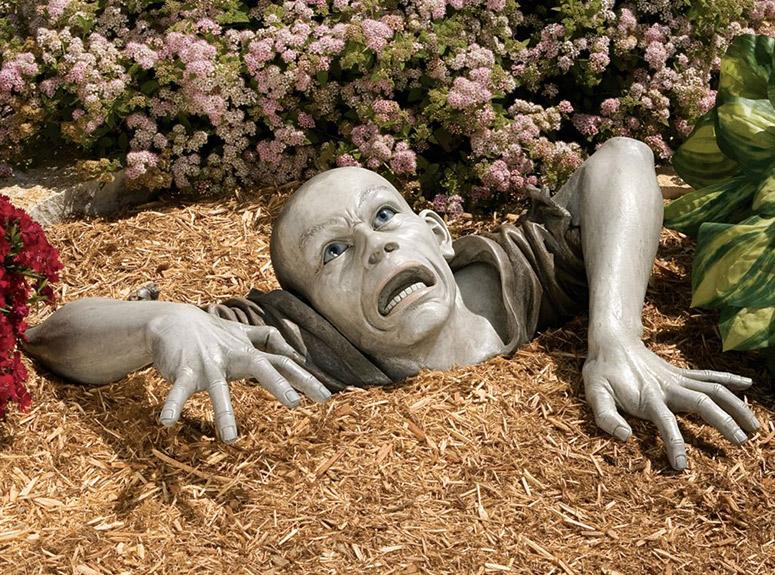 garden sculptures lifesize zombie garden sculpture LBABUOY