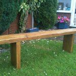 garden seat reclaimed rustic chunky solid pine garden