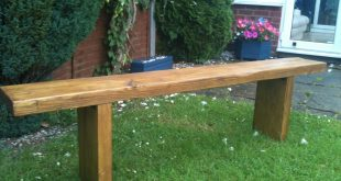 garden seat reclaimed rustic chunky solid pine garden bench seat BHEWAGH