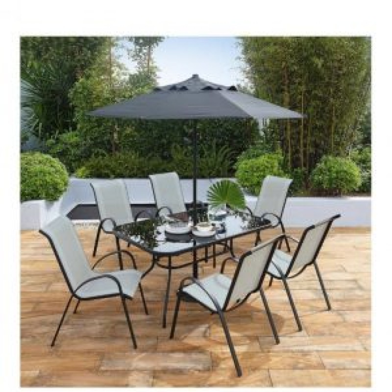 garden set sorrento 8 piece rectangle patio set