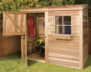 garden shed kits cedarshed bayside kit with dutch door ... PKUDWCF
