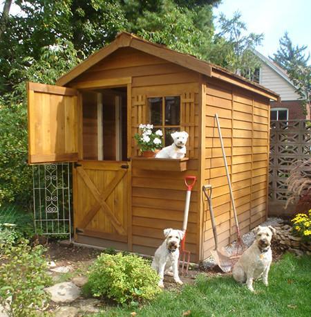 garden shed kits cedarshed gardener shed kit; small garden ... DLAHACR