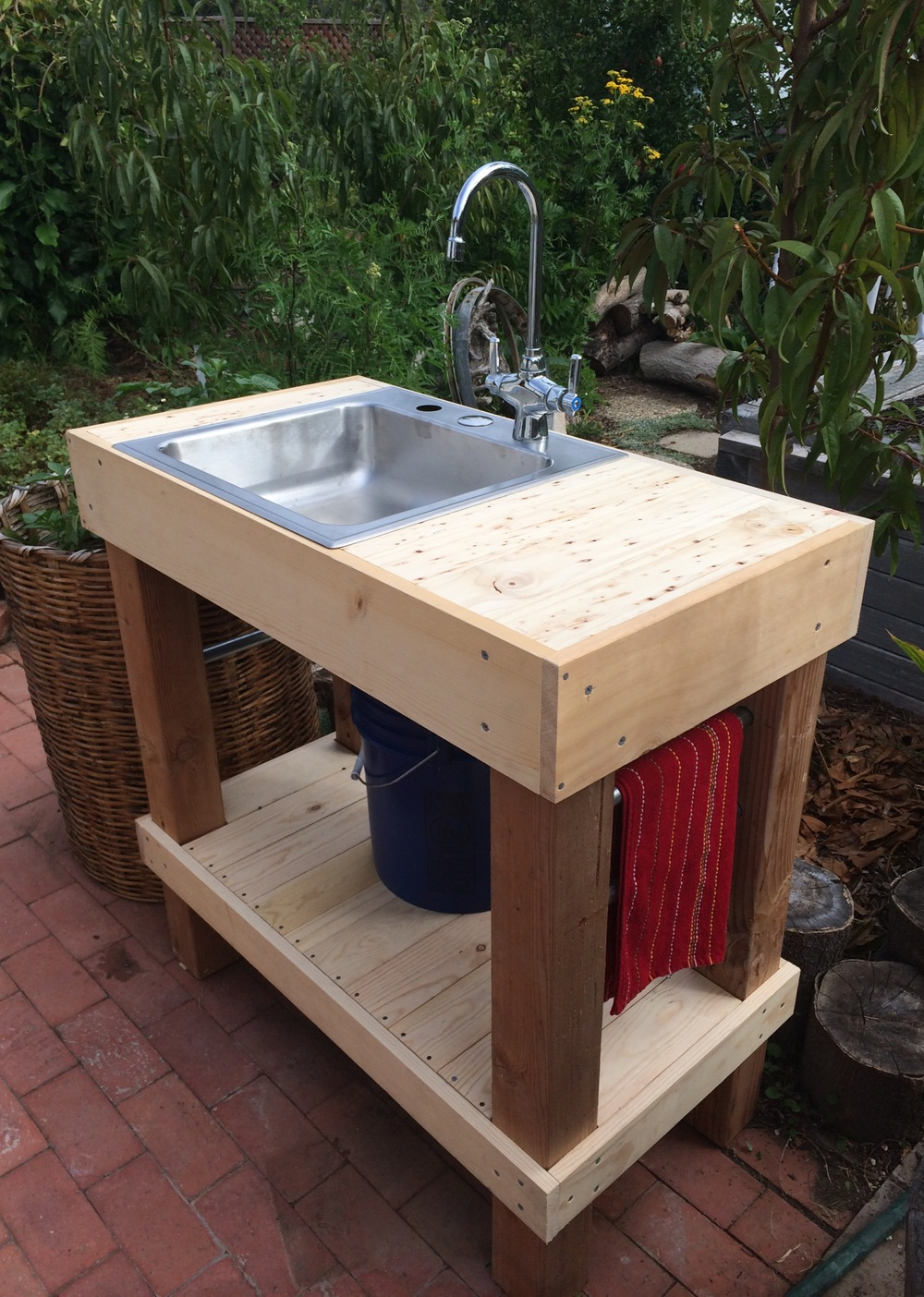 garden sink outdoor sink! total project cost $106 XBMAUVO