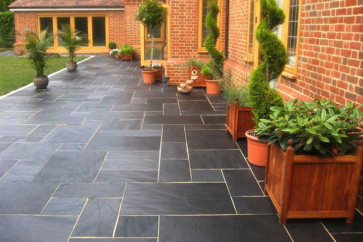 garden slabs blue-black-slate-paving-patio-kitpatio-kitblue-black SMQDJKB