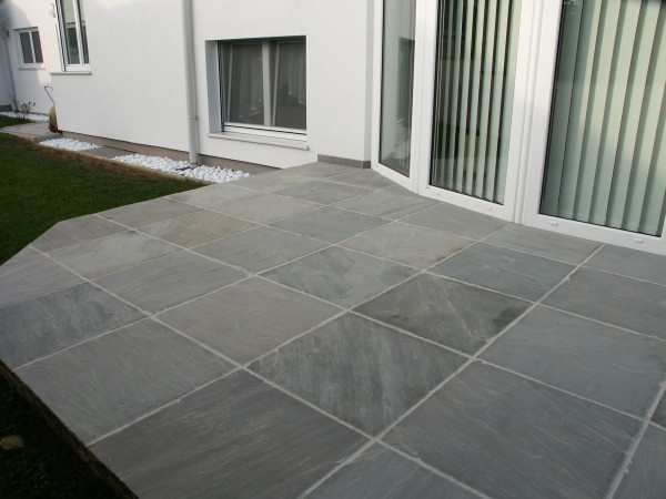 garden slabs grey sandstone patio paving packs TBJSBNQ