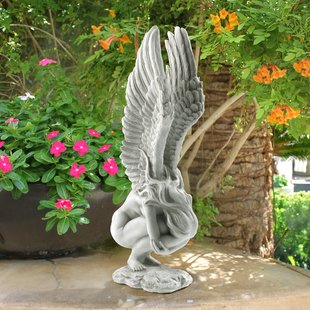 garden statue remembrance and redemption angel statue RUOGXFJ