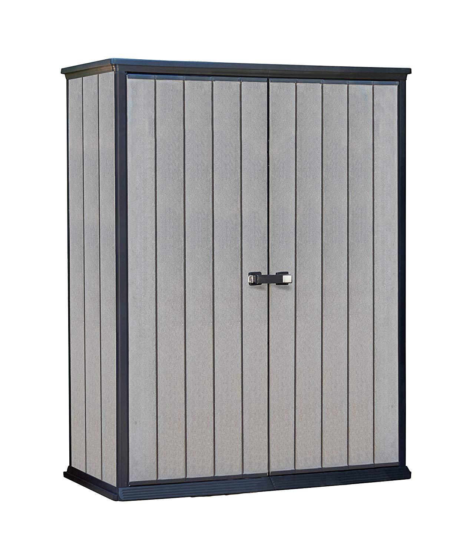 garden storage amazon.com : keter high store 4.5 x 2.5 vertical outdoor resin storage NMZDGUW