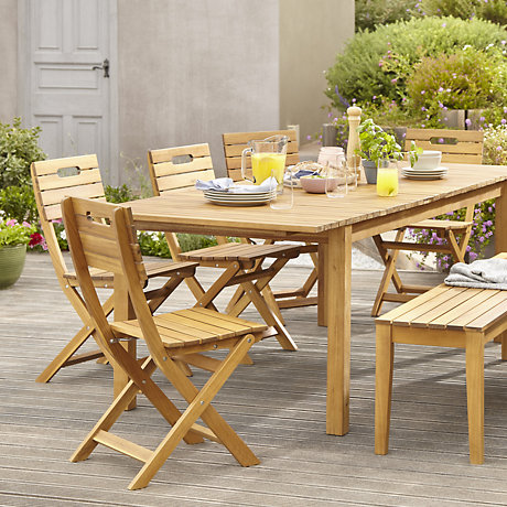 garden tables denia range · denia natural wood garden furniture ... EFHNBNM