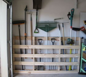 garden tool storage garage storage for garden tools from old pallet | hometalk BZZQTCL
