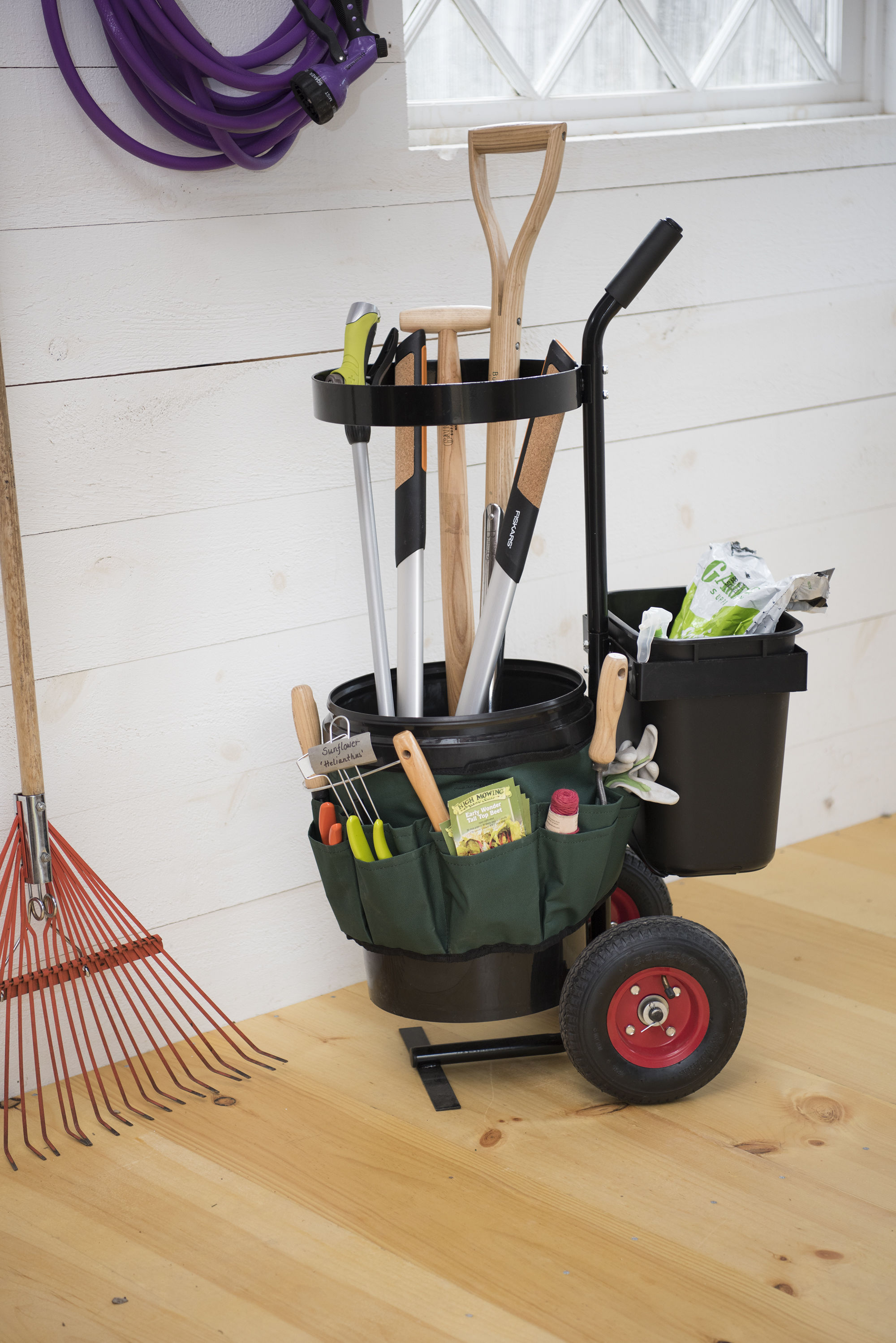 garden tool storage shown with tools, not included PWYNXHQ