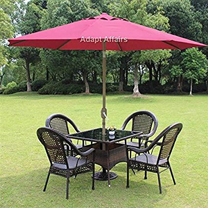 garden umbrella invezo impression luxury metal center pole patio umbrella maroon color with JOSPTSW