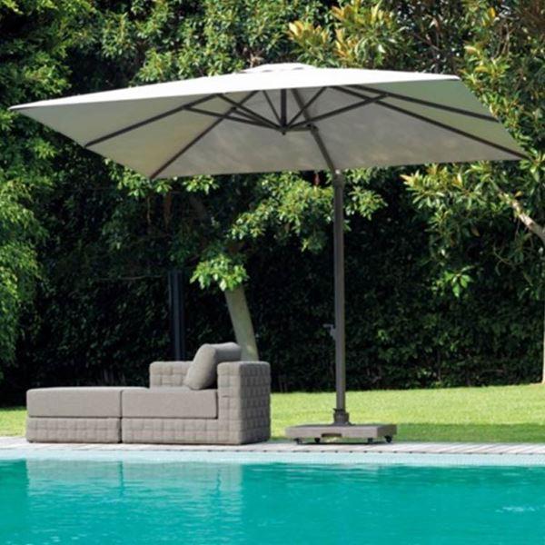 garden umbrellas square garden umbrella marte with retractable opening system for easy  closure VZCRZNC