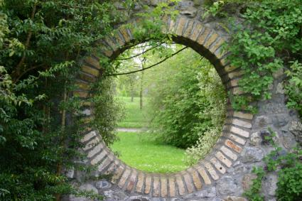 garden walls garden wall circular window SWLTJGF