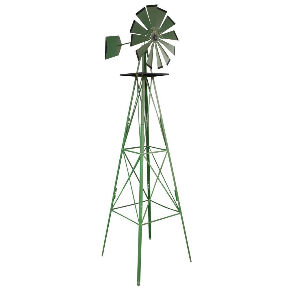 garden windmill green steel classic decorative windmill WDKVUAH