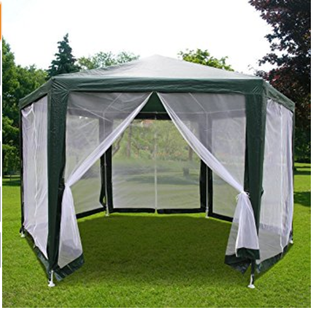 gazebo tent 6.6u0027x6.6u0027x6.6u0027 outdoor hexagon canopy party tent