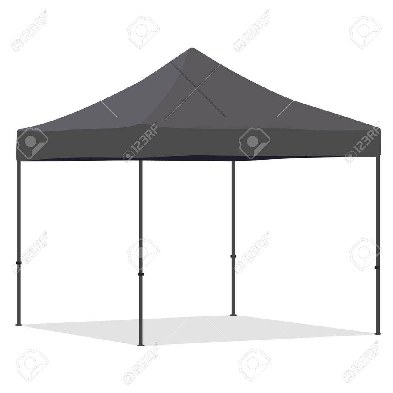 gazebo tent grey folding tent vector illustration. pop up gazebo. canopy tent stock HJWJQYM
