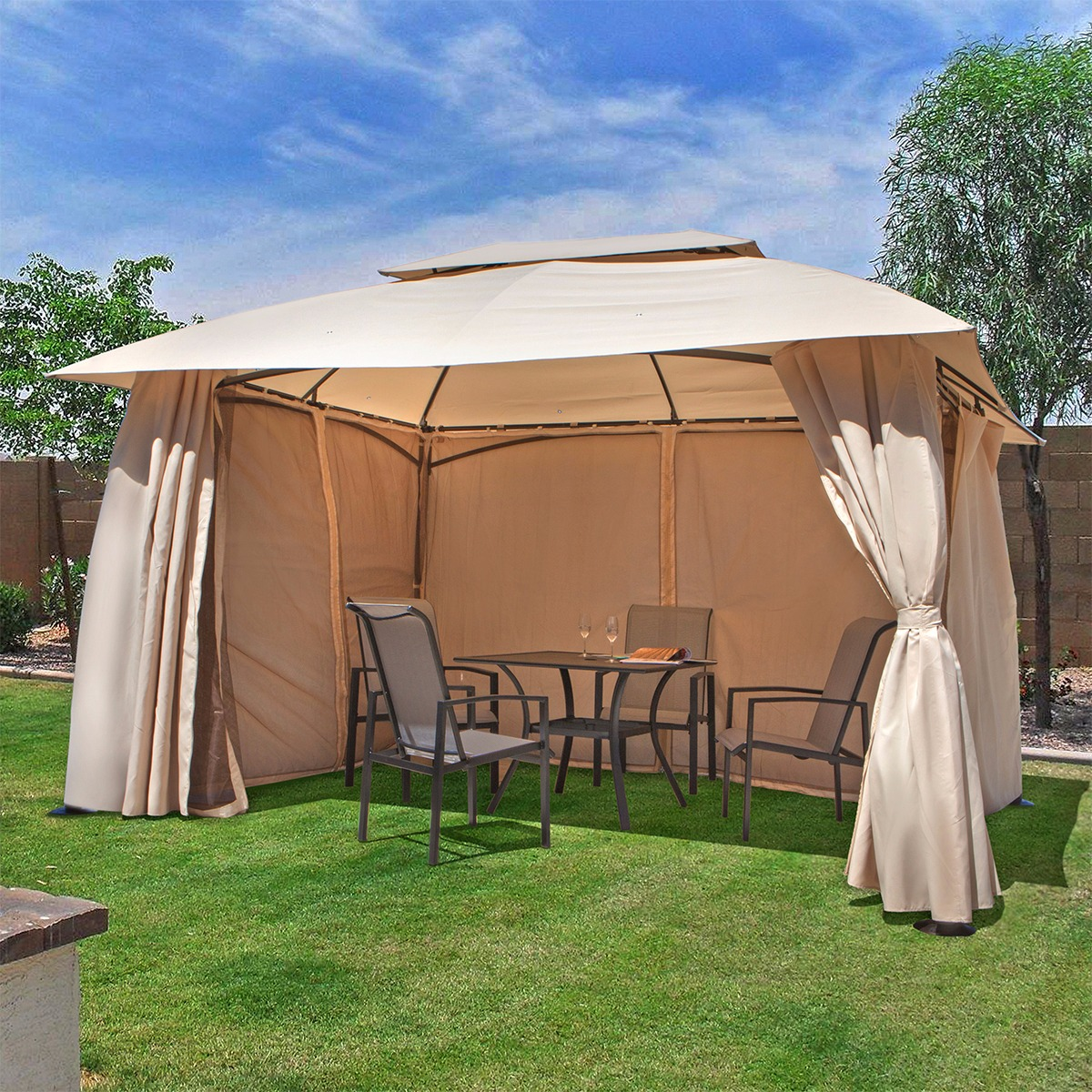 gazebo tent outdoor home 10u0027 x 13u0027 backyard garden awnings patio gazebo canopy tent TZDQHYF