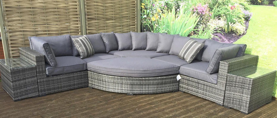 grey rattan garden furniture sets for sale CEFUWAZ