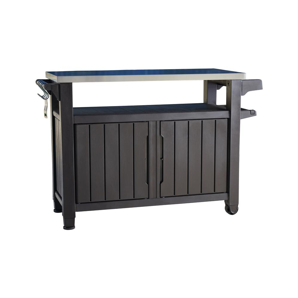 grill serving prep station cart with patio storage LUWLCYY