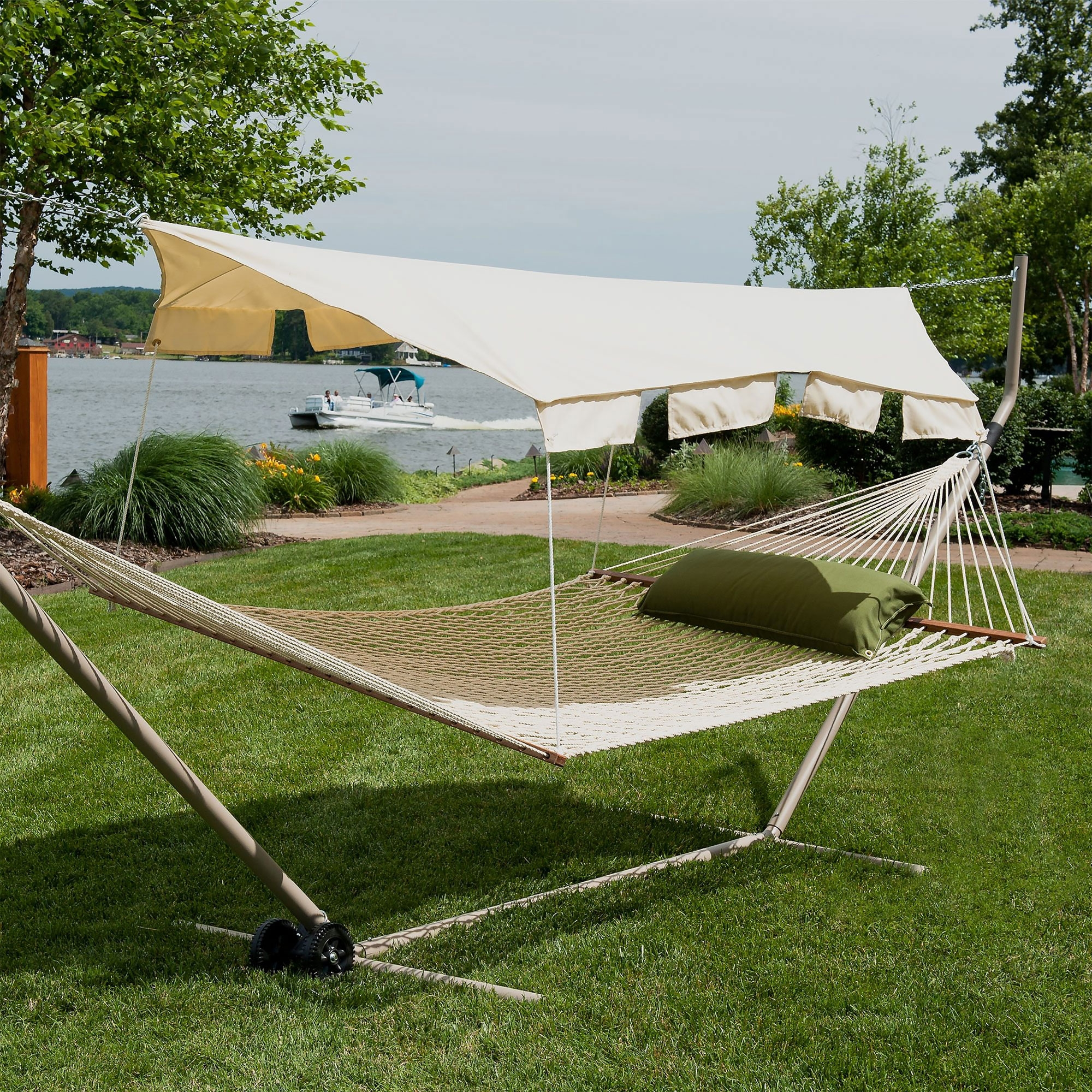 hammock with canopy hammock canopy - taupe LPJQPBS