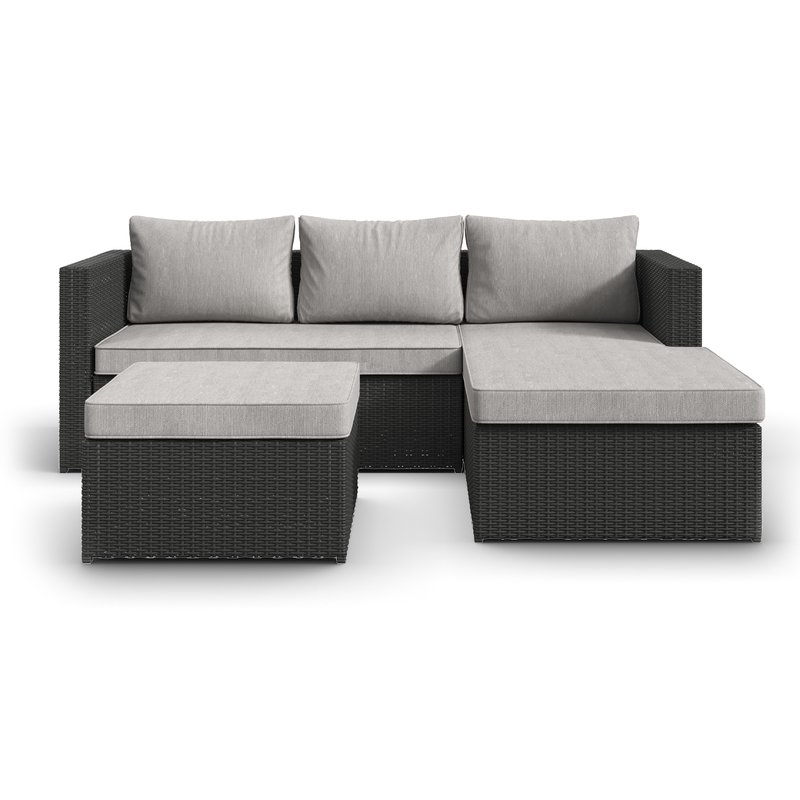 hammontree patio sectional with cushions PEFLNHN