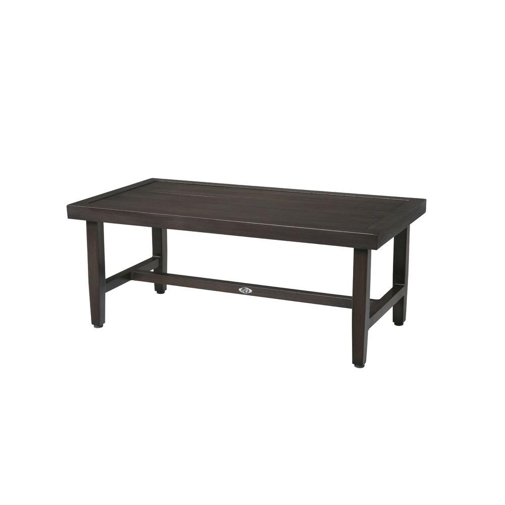 hampton bay woodbury metal outdoor patio coffee table FBHSUZN