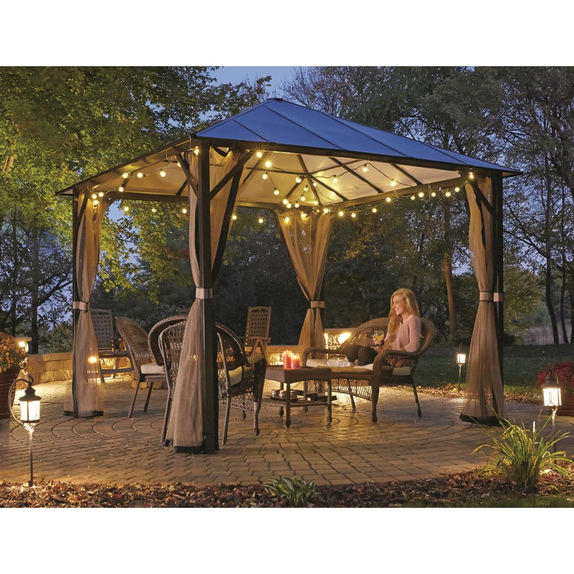 hardtop gazebo hard-top roof for year-round enjoyment UVLTOVY