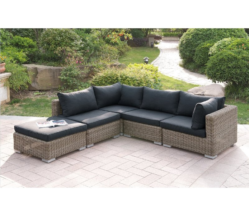harvey 5 piece patio sectional set ii with cushions LFKBVYG