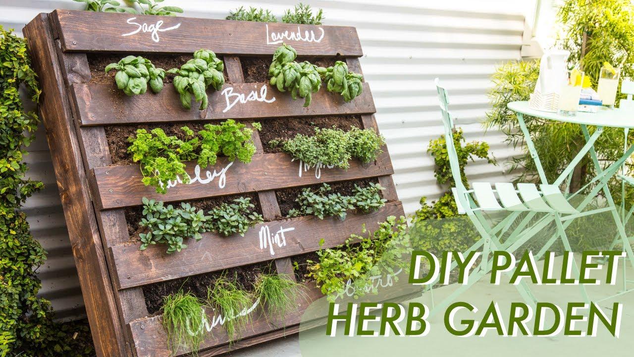 herb gardens diy shipping pallet herb garden | makeful RFADTID