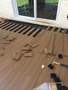 hereu0027s an easy way to lay deck flooring on your cement slab SMWKZAA