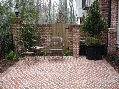 herringbone brick patio. yes. i ::think:: herringbone is my fav. more TJONCPD