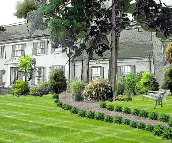 home garden design front yard garden design with