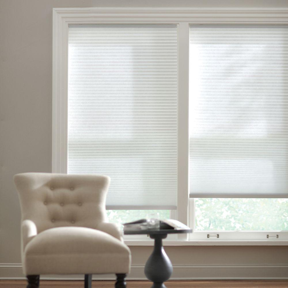 honeycomb shades home decorators collection snow drift 9/16 in. cordless light filtering cellular WZMQDWQ