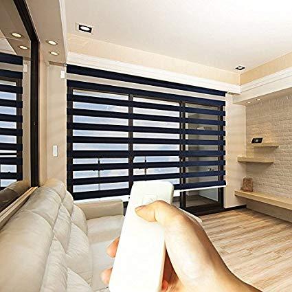 horizontal blinds godear design zebra design roller window shades, motorized-remote, privacy horizontal  blinds, TGISDOJ