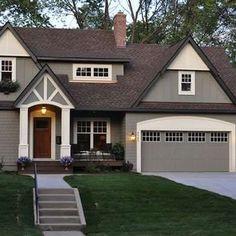 house exterior colors benjamin moore copley gray hc 104 trimmed with bm elephant tusk oc KITVYNV