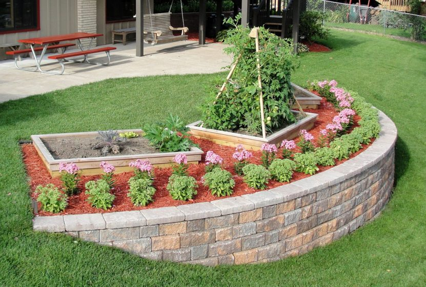 how to build a garden retaining wall DOJLATA