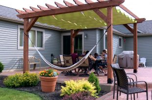 how to make a slide-on wire hung canopy (pergola canopy) - youtube SEOJWDH
