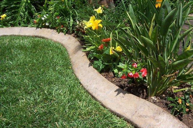 how to make concrete garden edging QZXZEQC