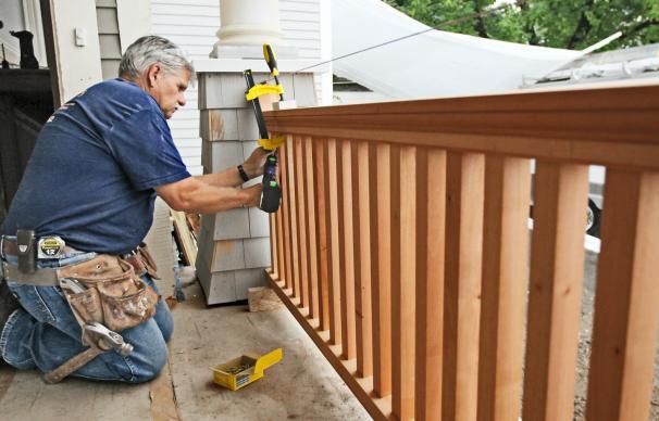 how to repair split porch railing | this