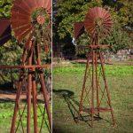 huge rustic garden windmill CSANSGH