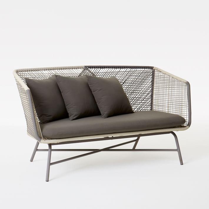 huron outdoor sofa - gray/seal | west elm MURDERZ