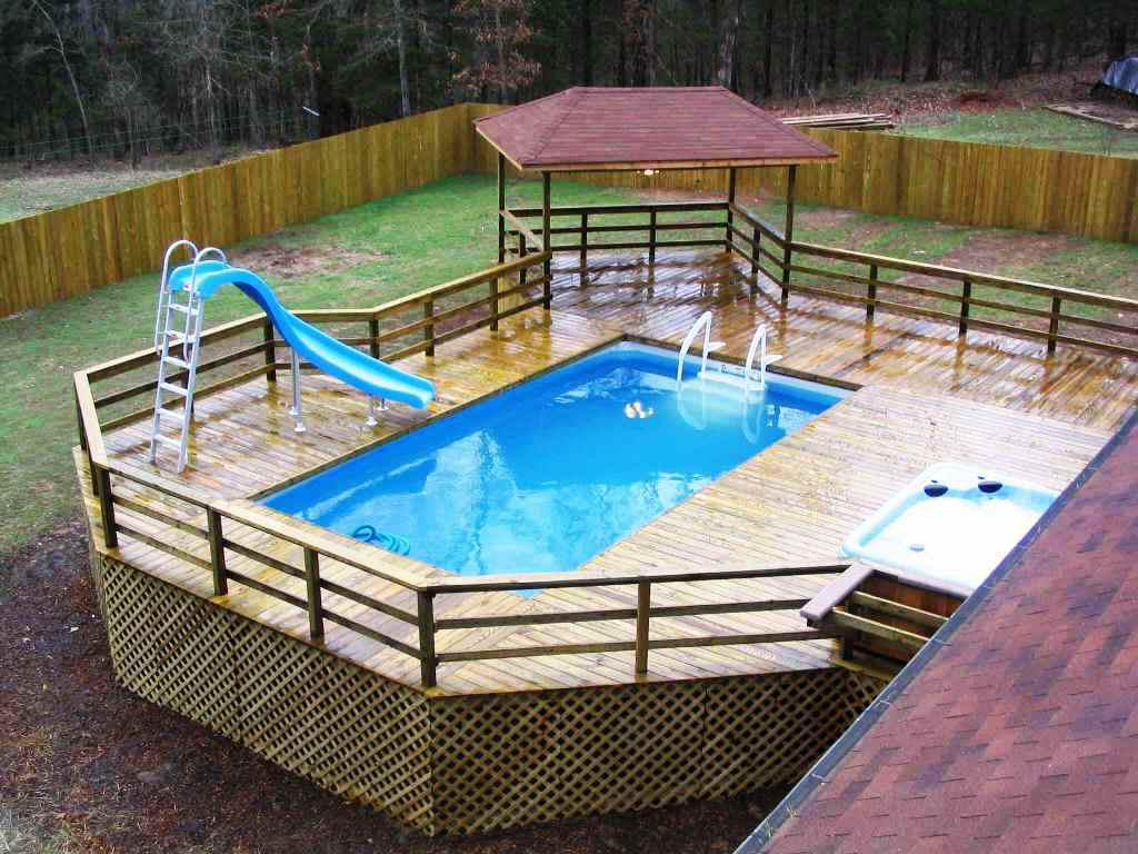 image of: above ground pools with decks cost YMJQOXJ
