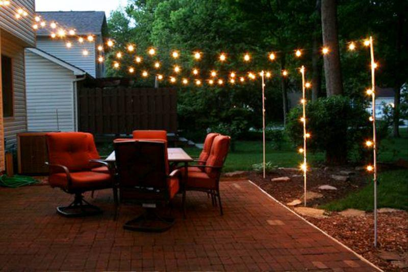 image of: decorative backyard lighting ideas EBHUWKC