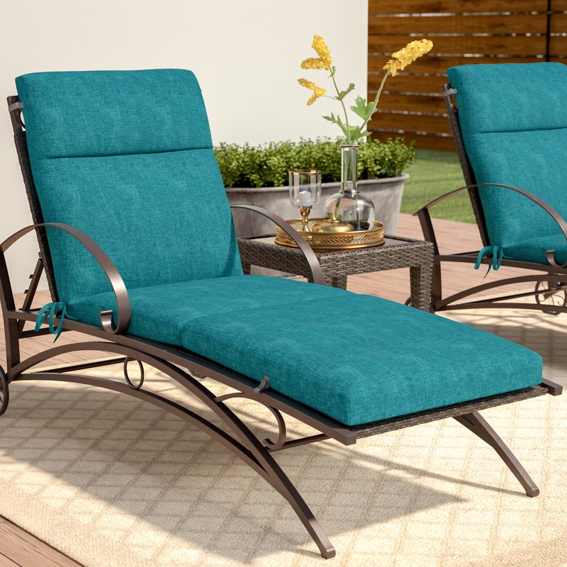 indoor/outdoor chaise lounge cushion PEACGOB